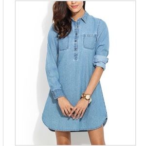 Hope and Luck Denim Shirt Dress M NWT